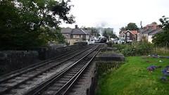 7822&80136 depart together (John W. Davies) Tags: northyorkshiremoorsrailway nymr steamtrains steamlocomotives heritagerailway grosmont goathland