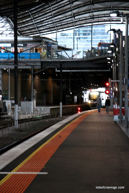 train station at Southern Cross