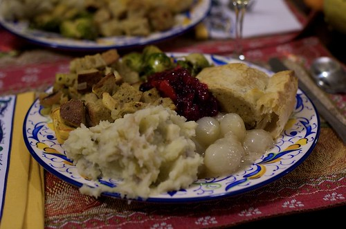 thanksgiving savory plate