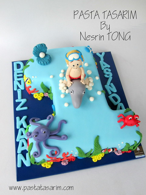 DENIZ 1ST BIRTHDAY CAKE