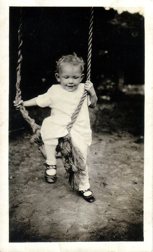 My Mother as a Toddler, on Rope Swing