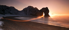Durdle sunrise (peterspencer49) Tags: ocean uk winter sea england sunrise unesco worldheritagesite dorset seaview durdledoor rockarch oceanveiw limestonearch peterspencer