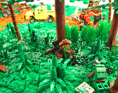Rumbled in the Legaan Jungle - Observation Team (Cuahchic) Tags: tree photoshop gun lego jeep flag jungle soldiers cod digger specialforces legaa modernmilitary modernwarfare2 pepenavarez
