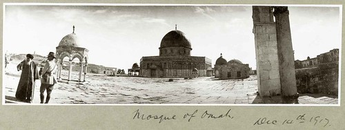 Panoramic photograph of the Dome of the Rock