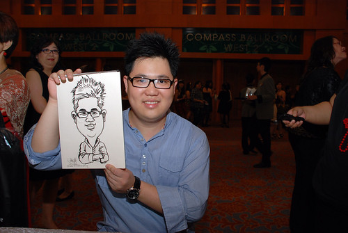 caricature live sketching for Ernst & Young D&D 2010 - 10