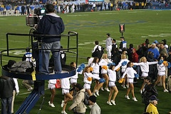 UCLA Cheer (Culture Shlock) Tags: california college football cheerleaders dancers stadium ucla usc bruins rosebowl pasadena universityofsoutherncalifornia ncaa rivals trojans intercity battleforlosangeles universityofcalfiorniaatloaangeles