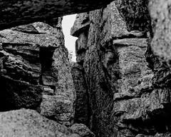 Rock windows ((nz)dave) Tags: statepark bridge bw usa texture rock blackwhite nikon texas tx canyon limestone joints rockformation d300 sigma30mmf14exdchsm lakemineralwells penitentiaryhollow