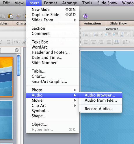 powerpoint for mac 2011 play audio across slides macgasm