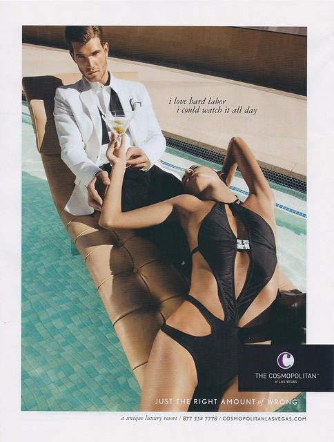 Cosmopolitan of Las Vegas Ad, drollgirl