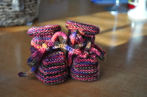 right now :: knitting booties
