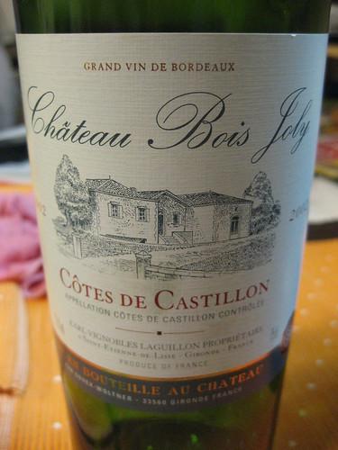2010-12-07 Chateau Bois Joly Cotes De Castillon 2002
