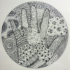 My first Zendoodle (Daniela.H.) Tags: white black circle hand drawing doodling doodled zentangle zendoodle zendala