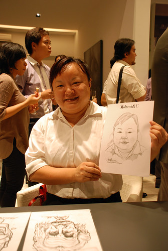 Portrait & Caricature live sketching for Molteni & C - 2