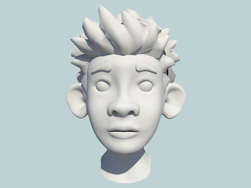matt luxton 3d character model front