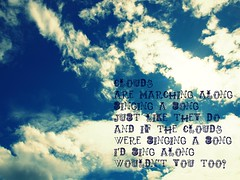 Clouds (EssleyJane [drifting in and out for a few weeks]) Tags: sky clouds words lyrics picnik 2010