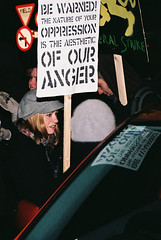 Reflective Protest (Anthony Cronin) Tags: ireland analog superia protest protests  protestors c41 irelanddublin bailout fuji irishlife street photography march crisis 200 dublinlife protest bank irish faces dublinirish protest streetsdublin dublinliving tpastreet dublinirelandnikonf8050mmf14d24mmf28danthonycroninanalogapug35mmfilmallrightsreservedirishphotographystreetsdublinstreetphotographystreetsofdublin antigovernment antieu antiimf irelands bailout 71210budget2010 photangoirl