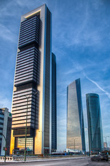 Cuatro Torres Business Area in Madrid. With Torre Caja Madrid,Torre de Cristal, Torre Espacio, Madrid (mathewbest) Tags: madrid canon de cuatro cityscape torre with caja business area cristal hdr torres espacio scky photomatix torredecristal torreespacio 5d2 cuatrotorresbusinessareainmadridwithtorrecajamadrid