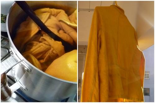 Tingindo em amarelo