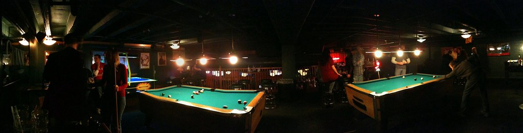 Panorama: The Library Bar Pool Tables