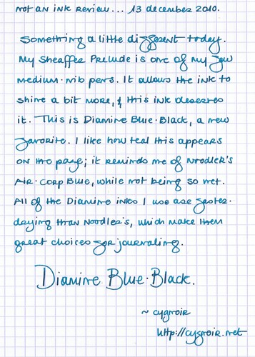 Not an ink test: Diamine Blue-Black
