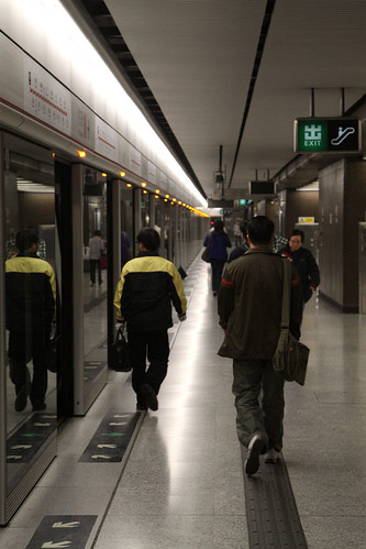 Driver changing ends on the Tsuen Wan line at Central