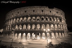 The Colosseum - Rome - Il Colosseo - Roma - Miniserie 2 of 4 Sepia in Rome (Margall photography) Tags: bw rome roma monument sepia photography italia symbol colosseum flavio marco colosseo anfiteatro simbolo galletto margall