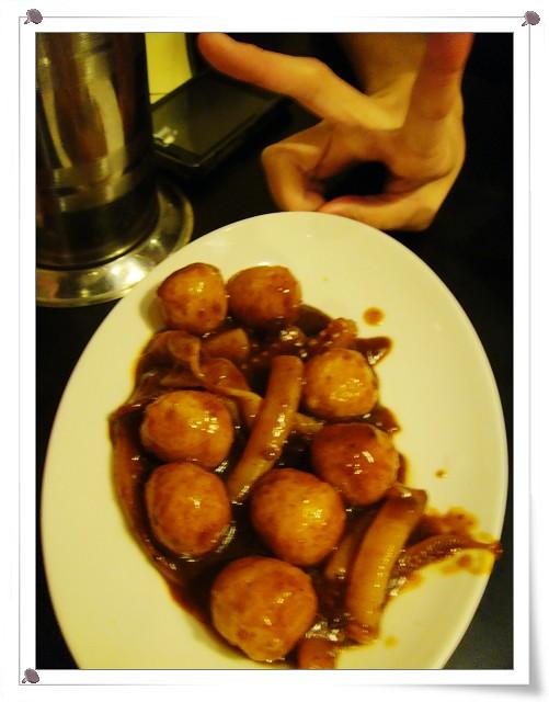 咖哩雙拼(魚蛋+魷魚)