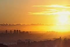 golden horizon (Eric 5D Mark III) Tags: california city light sunset sky cloud sun painterly building canon landscape gold golden losangeles cityscape horizon rays griffithobservatory ef24105mmf4lisusm eos5dmarkii