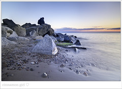 When you find peace within yourself, you become the kind of person who can live at peace with others. (cinnamon girl ) Tags: blue sunset shadow sea orange beach water silhouette moss sand rocks quiet peace stones baltic hiddensee