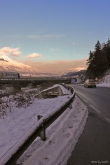 Traffic (zneppi, the photo freak) Tags: sky mountains alps clouds landscape austria tirol smog sterreich highway cityscape traffic transit alpen tyrol innsbruck a12 mountainscape a13 transithlle
