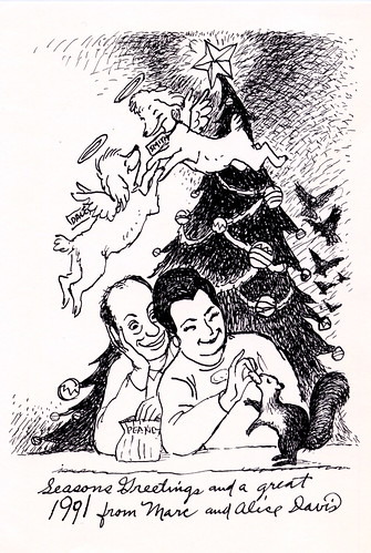 Marc Davis Christmas Card - 1990