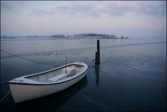 Fischerboot (FelixFromFlensGer) Tags: winter ice boot boat vinter twilight dmmerung eis dnemark danmark
