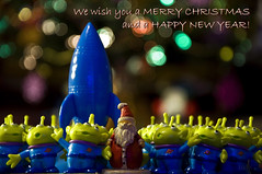 """Santa Claus Is Coming To Town (Light Echoes) Tags: christmas nikon toystory bokeh pixar santaclaus 1001nights d90 dmk greatphotographers inspiredbylove planetpizza spiritofphotography """"nikonflickraward"""" artofimages 1001nightsmagiccity ringexcellence quotvividampstrikingquot"""