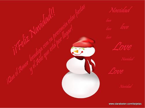 Feliz Navidad. Tarjeta de felicitación navideña