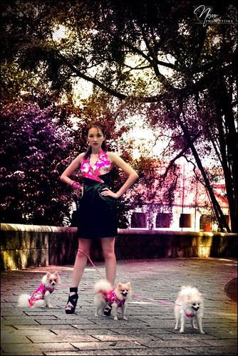 Annie & 3 puppies - 1