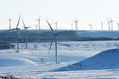 Whitelee Wind Farm in Winter