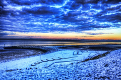 Heysham 21st Dec 2010 HDR4 (gavbc www.gavinhaworthphotography.co.uk) Tags: sea snow coast hdr topaz adjust irishsea morecambebay heysham photomatix canoneos500d photoshopelements8