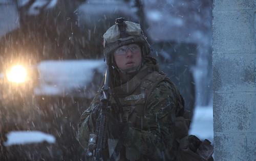 フリー写真素材, 社会・環境, 戦争・軍隊, 雪, 兵士, アメリカ海兵隊,