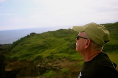 Dad (rpitman) Tags: bay clay cliff crash fence hawaii honolua maui mountains napili ocean palm path road saturation sea sepia tree vegetation waves west