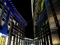 Hotel & Casino In Aberdeen, Scotland (frogdog*) Tags: blue lights hotel scotland steel casino aberdeen archetecture bluelights steelarchetecture aberdeenhotel2 aberdeencasino nightphotonightshotnewnewbuildnewbuildingnewhotel nightphotonightshotnewnewbuildnewbuildingnewhotelaberdeennewhotelblackskynightskywindowsreflectionhotelreflectionmodernuplighting