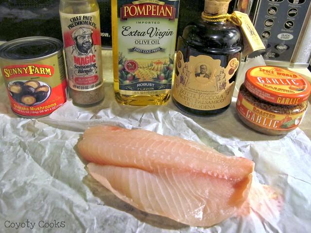 Balsamic tilapia 1: Ingredients