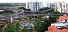 The view from YM's corridor (The Chilli Padi) Tags: autostitch panorama train singapore tracks f10 panoramic finepix fujifilm lrt sengkang fujifilmfinepix