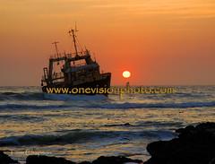 Skeleton Coast shipwreck - Namibia (one_vision_photo) Tags: sunset abandoned boat sand ship ruin shipwreck namibia wreckage skeletoncoast namibdesert