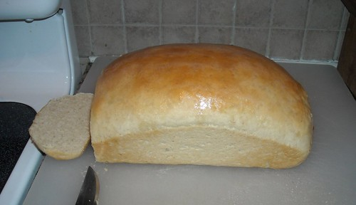 first loaf of bread mixed with my new kitchenaid