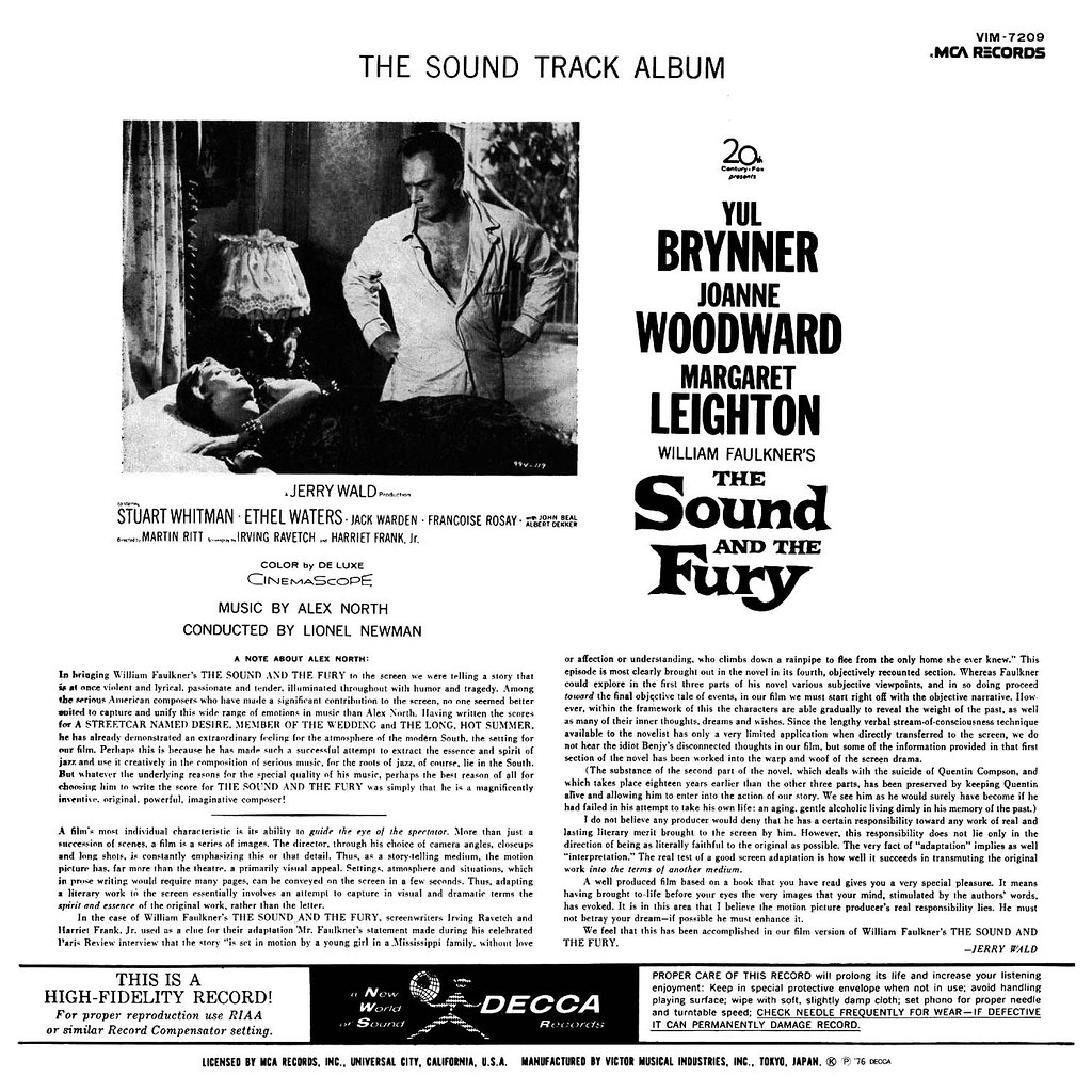 The Sound And The Fury Lp Cover Art