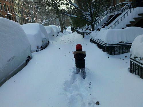 nyc snow storm child
