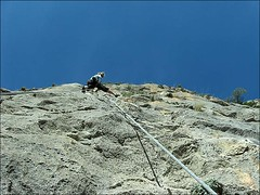 climbing Marion in Sella Central