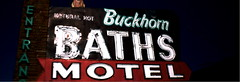 Buckhorn Baths Motel in Mesa, Arizona (kevin dooley) Tags: arizona signs film analog 35mm lomo lomography az signage mesa trashcam ultronic valleyofthesun buckhornbathshotel