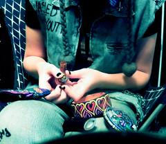 2011 (kcorbammej) Tags: black color glass girl hat shirt stash diy weed hands punk box packing pipe bowl newyear pot drugs faceless denim beatles vest lighter nailpolish marijuana sleeves cutoff robertsmith crystalcastles notinlove