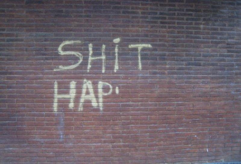 shit happens graffiti
